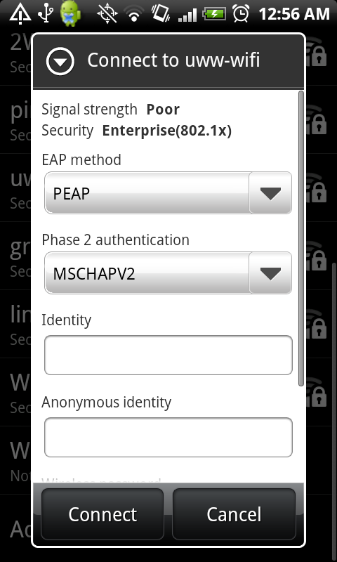 Connect Android to a WPA2 Enterprise Wireless Network – Nick